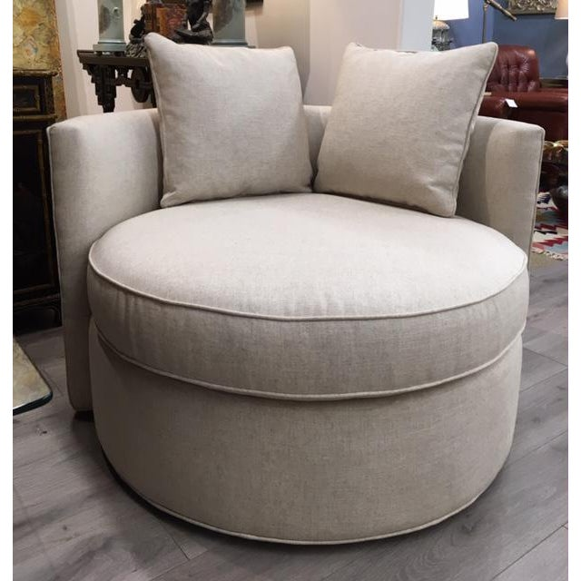 Newly upholstered chair and a half swivel by Leggett & Platt