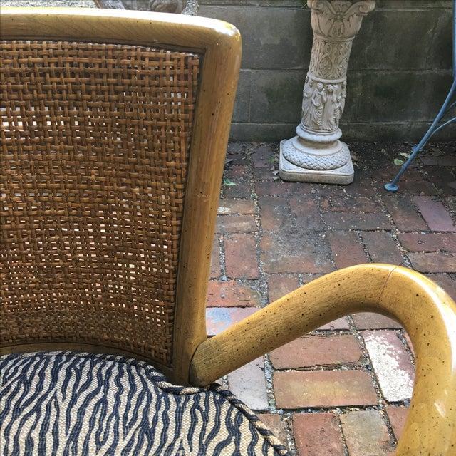 Zebra Upholstered Cane Back Swivel Chair - Image 4 of 7