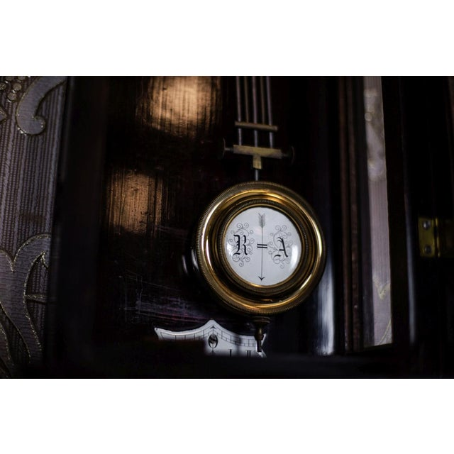 Traditional 19th-Century Louis Philippe Wall Clock For Sale - Image 3 of 10