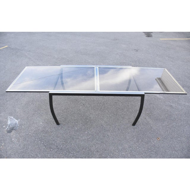 Dia Gunmetal Chrome Modern Dining Table For Sale - Image 5 of 11