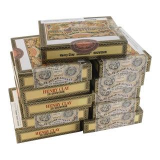 Vintage Henry Clay Mirabelle & Souvenir Cigar Boxes - 7 Pieces For Sale