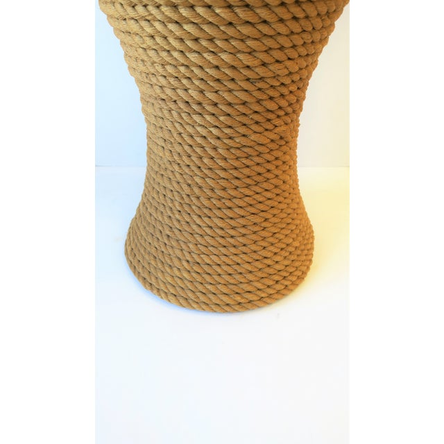 Nautical Rope Round Side or End Table For Sale - Image 9 of 10