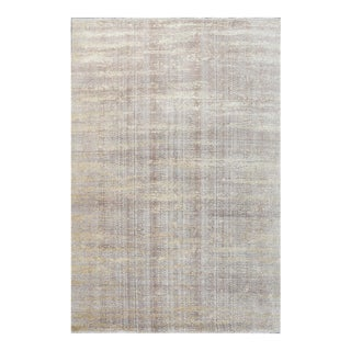 Schumacher Patterson Flynn Martin Fujisan Hand Knotted Wool Silk Striped Rug For Sale