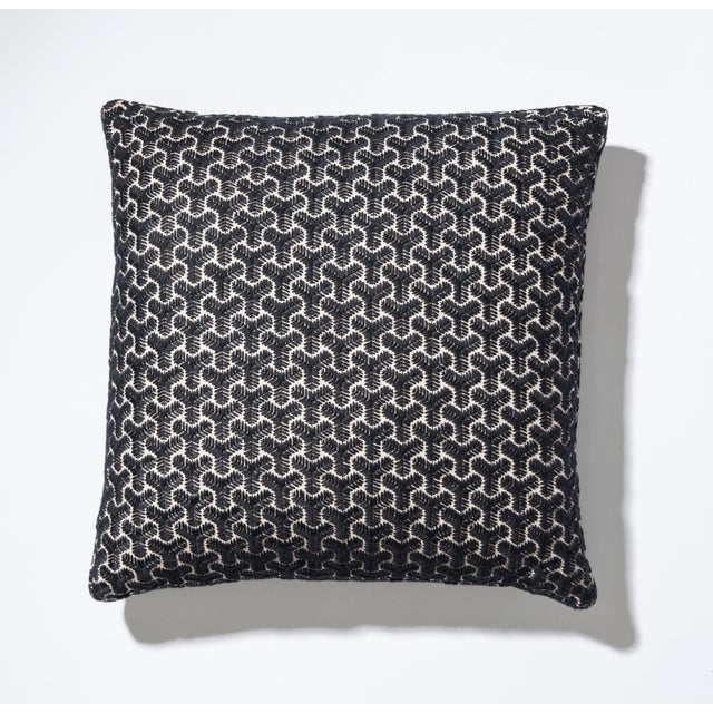 Trigonal Eggsell Linen Square Box Pillow For Sale - Image 4 of 4
