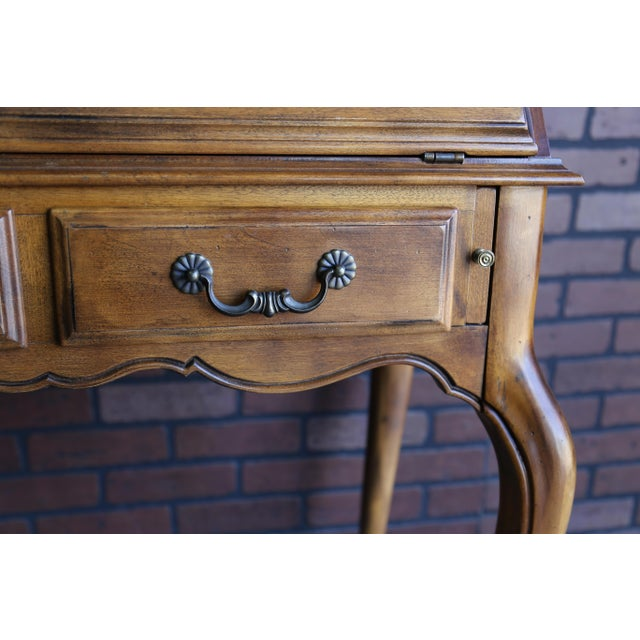 Ethan Allen French Country Ethan Allen Secretary Desk For Sale - Image 4 of 10