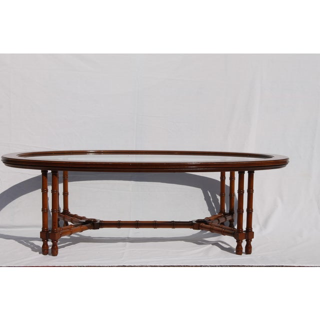 1960's Mid-Century Faux Bamboo Coffee - Image 5 of 11