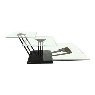 Contemporary Bellato Adjustable Coffee Table, 1980s For Sale