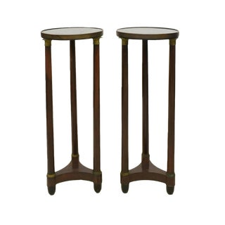 19th Century French Empire Mahogany Pedestal Tables - a Pair For Sale