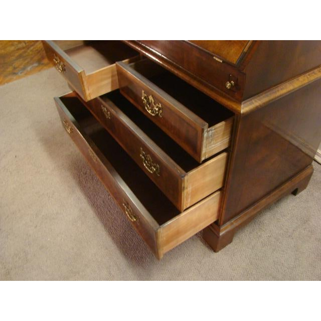 Brown Traditional Henredon Aston Court Burl Wood Secretary Desk For Sale - Image 8 of 10