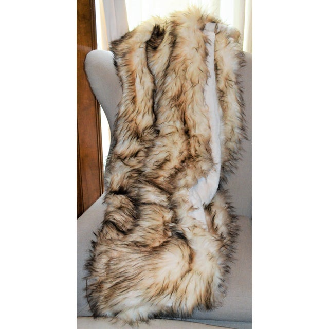 Wild Mannered Faux Fur Bleached Finn Throw For Sale - Image 9 of 11