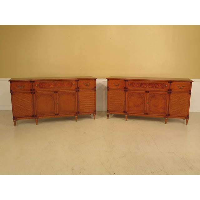 Italian Inlaid Walnut Sideboards - A Pair - Image 2 of 11