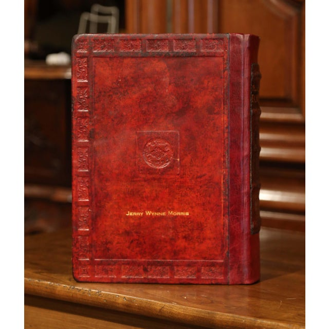 Early 20th Century Leather and Gilt Illustrated King James Version Family Bible For Sale - Image 10 of 12