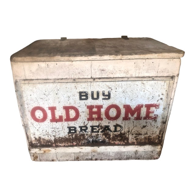 1970s Vintage Old Home Bread Retail Display and Storage Box For Sale