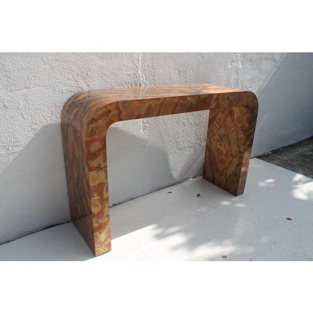 Paul Evans Style Waterfall Copper Console Table For Sale - Image 4 of 11