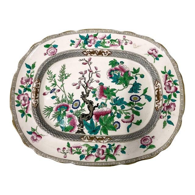 Antique English Transferware Platter For Sale