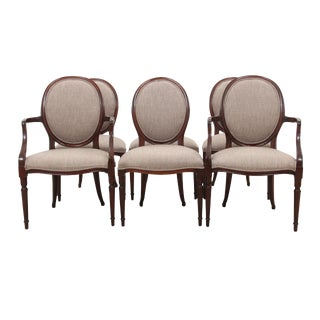 French Balloon Back Dining Chairs - Set of 6