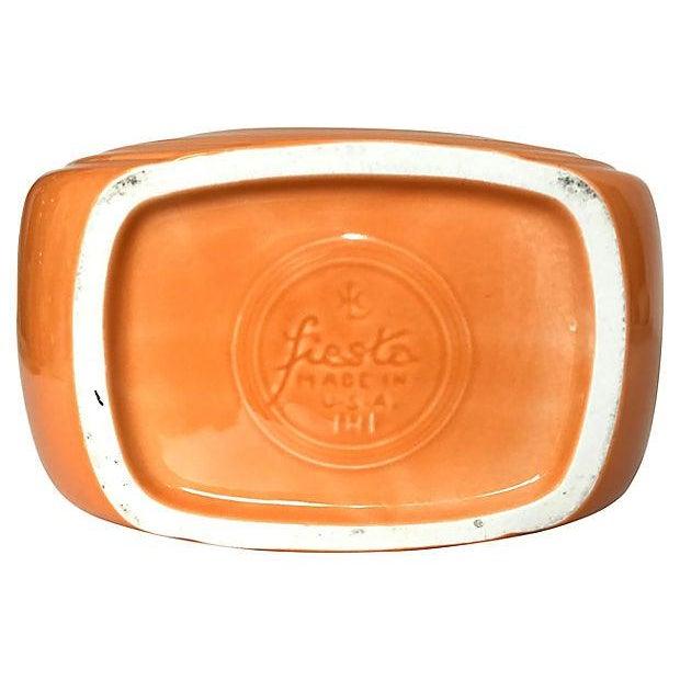 Tangerine Orange Fiesta Ware Disc Pitcher For Sale - Image 4 of 6