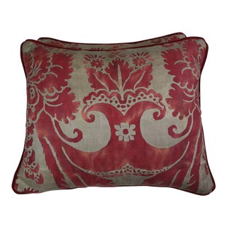 Vintage Fortuny Textile Pillows, Pair For Sale