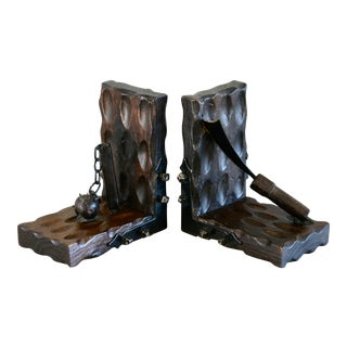 Vintage Medieval Bookends - a Pair For Sale