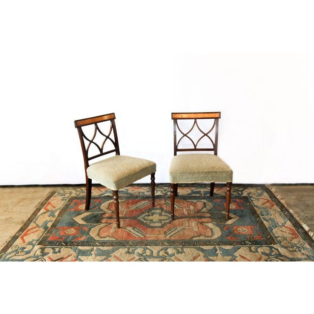 Wood Early 19th Century Inlaid Sheraton Chairs- a Pair For Sale - Image 7 of 7