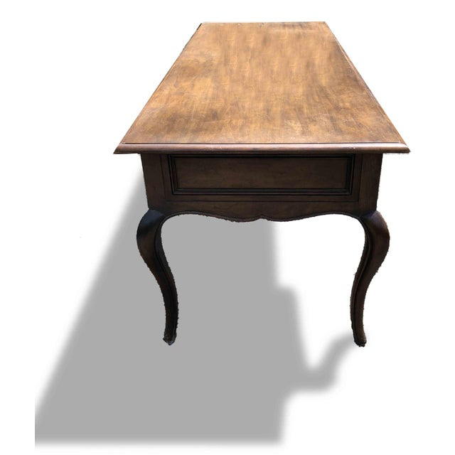 1970s 1970s Queen Anne Baker Furniture Mahogany Writing Desk For Sale - Image 5 of 8