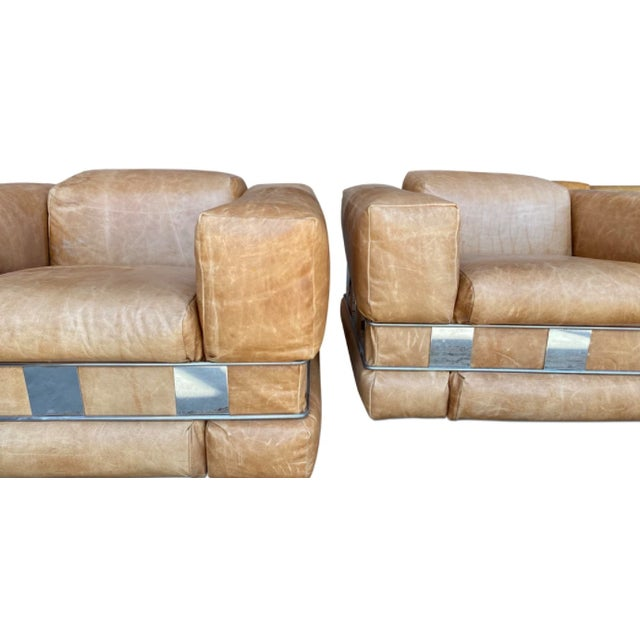 A pair of extremely RARE Adrian Pearsall arm chairs. These chairs are unlike most of his other styles. Made with supple...