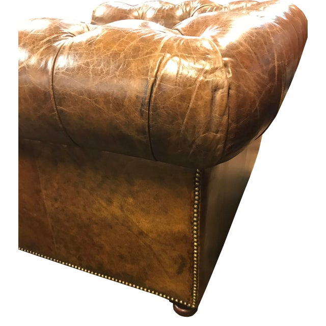 Restored Distressed Vintage Brown Leather Chesterfield Club Armchair - Image 3 of 7