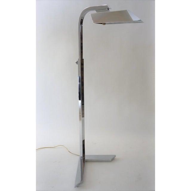 Vintage Casella Style Floor Lamp - Adjustable Polished Chrome For Sale - Image 11 of 11