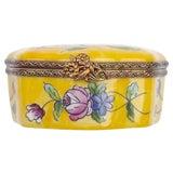 Image of Vintage Porcelain Floral Themed Limoges Box For Sale