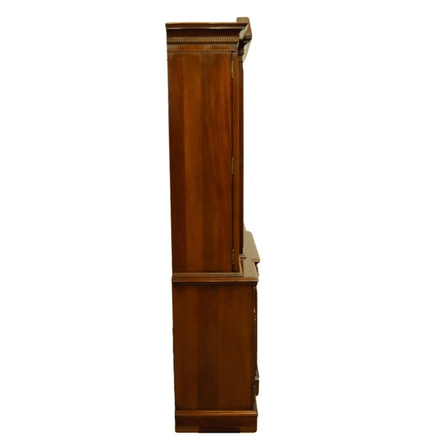 Link Taylor Furniture Solid Mahogany Chippendale Traditional Breakfront Display China Cabinet For Sale - Image 11 of 13