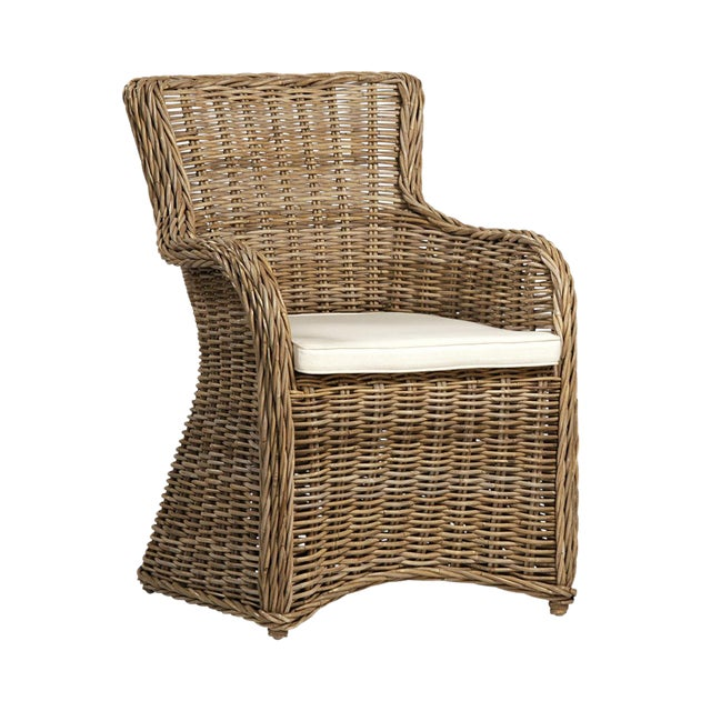 Natural Rattan Armchair For Sale