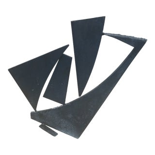 1970's Abstract Expressionist Brutalist Welded Steel Sculpture For Sale