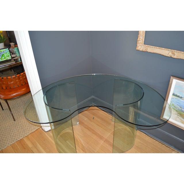 Vnitage 1980s Kidney Shaped Glass Desk - Image 3 of 5