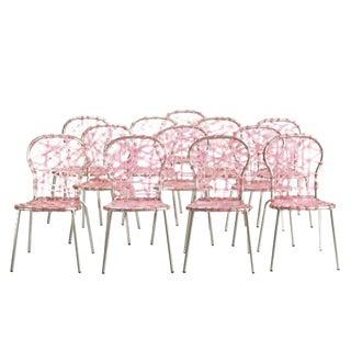 Campana Brothers Pink Zig Zag Chairs - Set of 12