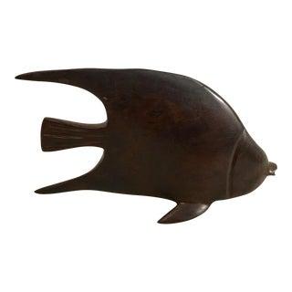 Vintage Hand Carved Wooden Fish