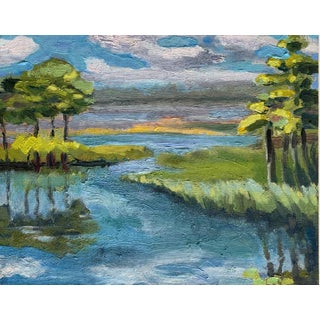 Beth Downey Coastal Preserve Painting For Sale