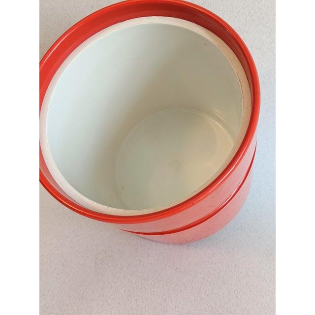 Vintage Orange Heller Ice Bucket by Sergio Asti For Sale - Image 4 of 9