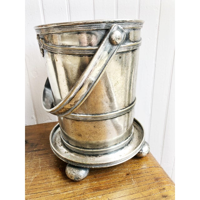 This is an antique c. 1912 heavy silver plate champagne cooler/bucket from the Copley Plaza Hotel in Boston (sister hotel...