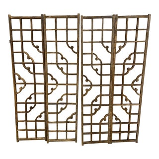 Antique Japanese Window Screens - Set of 4 For Sale