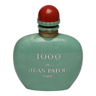 "Vintage ""1000"" De Jean Patou Paris Jadeite Green Factis Store Display Perfume Bottle For Sale"