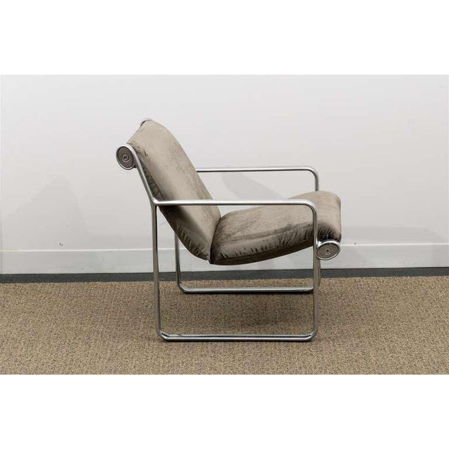 Gray Rare Pair of Aluminum Lounge Chairs by Hannah/Morrison for Knoll For Sale - Image 8 of 10