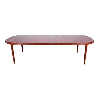 Danish Modern Teak Extension Dining Table by Harry Ostergaard, 1960s For Sale