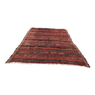 Vintage Turkish Anatolian Handmade and Embroidered Rug - 6′8″ × 12′2″ For Sale