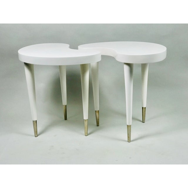 Plastic Contemporary Oly Twin Side Tables - a Pair For Sale - Image 7 of 7