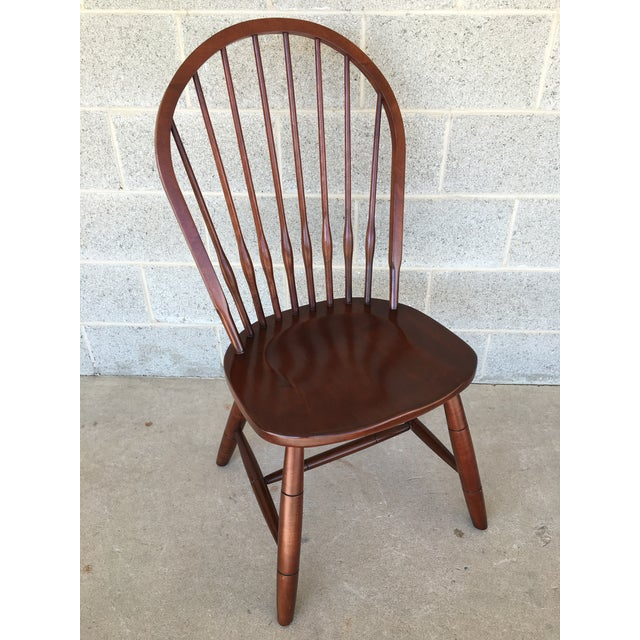 New Country by Ethan Allen Pair of Solid Beechwood Hoop Back Side Chairs, Finish 260, In Very Good Condition, Normal Pre-...