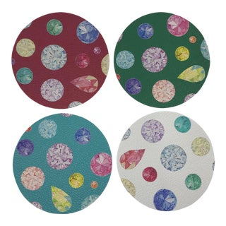 Jewel Coasters, Set of 4 For Sale