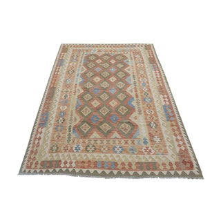 """Vintage Afghani Flatweave Kilim - 6'3"""" x 9'3"""""""