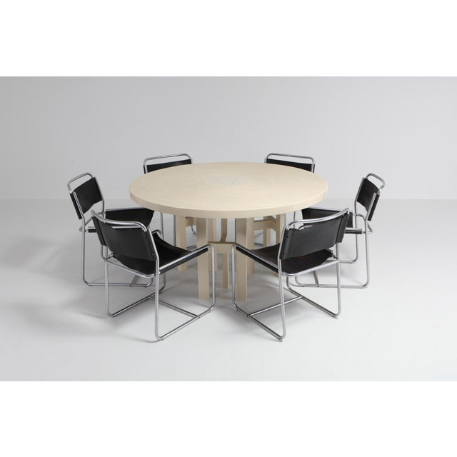 Jean Claude Dresse Exceptional Resin Dining Table For Sale - Image 6 of 9