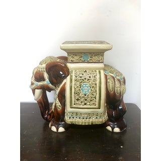 Chinese Ceramic Elephant Side Table Preview