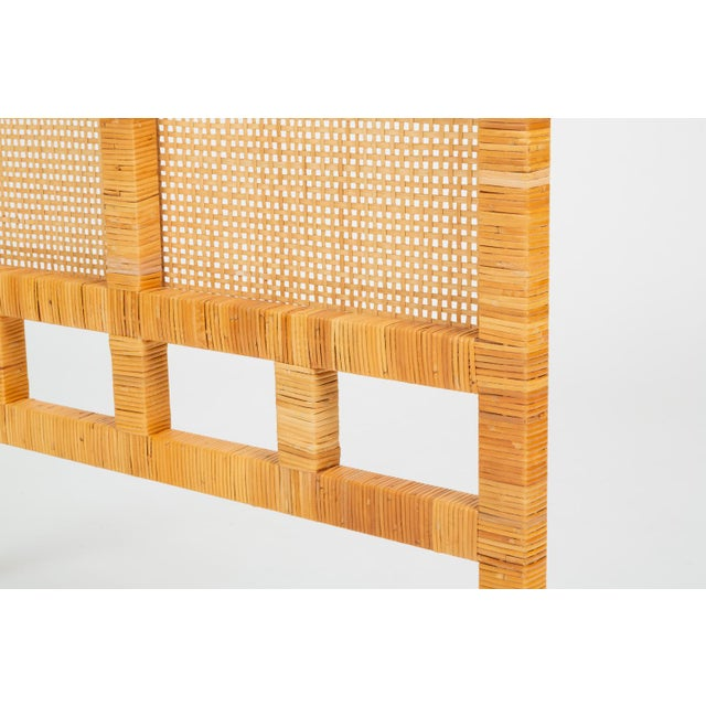 Single Woven Cane Twin Headboard by Danny Ho Fong for Tropi-Cal For Sale In Los Angeles - Image 6 of 10